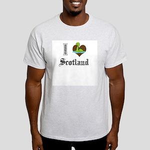 I [HEART] SCOTLAND Ash Grey T-Shirt